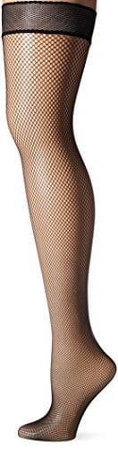 Dim Up Résille – Bas Autofixants – 75 Den – Femme – Noir – FR: 4 (Taille Fabricant: 4)