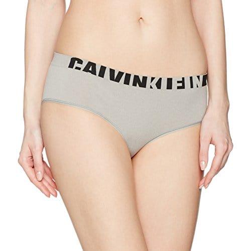 Calvin Klein underwear Hipster, Shorties Femme, Gris (Black Logo), 38 (Taille Fabricant: Medium)
