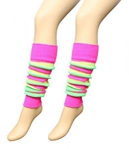 Pour femme et adolescent 80 'S Dance côtelé uni Legwarmer Tutu Jambières Fancy Dress – Multicolore – moyen