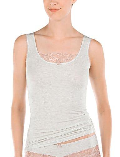 Calida Madeira Top Ohne Arm, Tricots de Peau Femme, Grey (Soft Grey Melé 834), 40