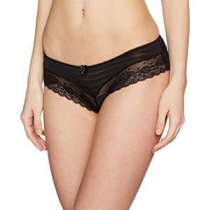 New Look Shadow Stripe Lace, Shorts pour Femme, Noir, 36