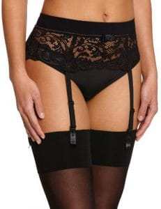 Lou – Piccadilly Garter Belt – Porte-Jarretelles – Femme – Noir – FR: 32 (Taille Fabricant: S)