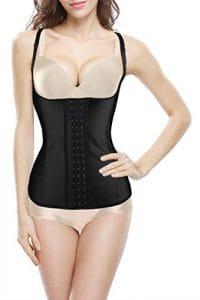 4How® Femme Body Minceur Shapewear Lingerie sculptante Amincissante Liquitation Partielle, Noir avec double Bretelles, FR 36
