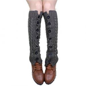 Generic – Guêtres – Femme taille unique – gris – Taille Unique