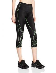 CWX femmes Stabilyx-Collant 3/4–Noir/coutures citron vert-Taille L