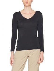 Damart T-Shirt Manches Longues Thermolactyl Sensitive, Haut Thermique Femme, Gris (Anthracite), 50 (Taille Fabricant: XL)