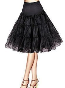 NUOMIQI Femme Jupon Sous Robe/Jupe en Tulle Taille Haute