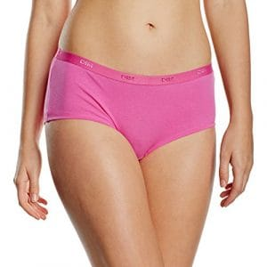 Dim – Pockets Coton – Boxer – Quotidien – Uni – Lot de 3 – Femme – Rose (Lot Rose Rayures/Pois) – FR : 36 (Taille fabricant : 36/38)