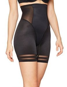 Iris & Lilly Short Taille Haute Gainant Femme, Noir (Black), 8 (Taille fabricant: X-Small)