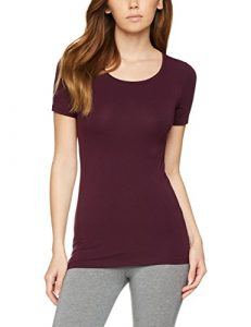 Iris & Lilly T-Shirt Justaucorps Thermique Femme, Violet (Potent Purple), 40 (Taille fabricant: Medium)