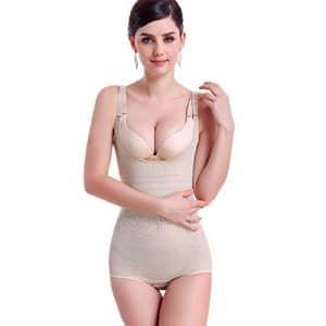 KOOYOL Femme guepiere sexy Bustiers Minceur Efficace Lingerie Sculptante Amincissant Body Shaper