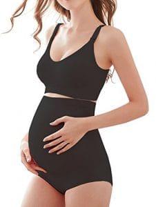 KOOYOL Maternité de Grossesse Culotte Ultra Haute Taille Superélastiques culotte de grossesse Sous-vêtements en fibre de Bambou