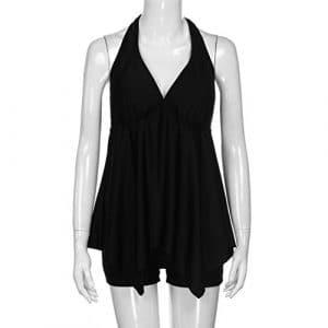 MinegRong Hot Sale Bikinis Sexy Femme maillot de bain femme bikini 2018 biquini définit avec Boy shorts de bain Maillots de bain deux pièces Mesdames,Black,XL