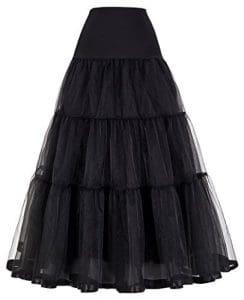 GRACE KARIN Femme Jupon sous Robe Longue à Cheville Petticoat en Tulle Longueur 100cm CL421-1 3X