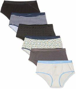 Dim Les Pockets Coton, Boxer Femme, Multicolore (Noir Logo + Odysee 89c), 36 (Taille fabricant:36/38), Lot de 6