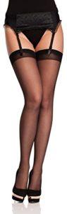 Antie femme Bas Pour Porte-Jarretelles 20 Den O 4006 (Noir, XL (Taille du Fabricant: 5))