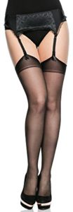 Merry Style Collant Autofixant Lingerie Sexy Sous-vêtement Femme Grande Taille MS 166 15 DEN (Noir, XL-XXL)