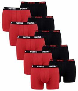 Puma 10 ER Pack Boxer Boxershorts Men Pant Underwear, Größe Bekleidung:M, Farben:786 – Red/Black