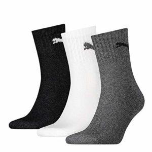 Puma 15 pair Sport Socken Short Crew Tennis Socks Gr. 35-49 Unisex, Farben:882 – grey/white/black, Socken & Strümpfe:43-46