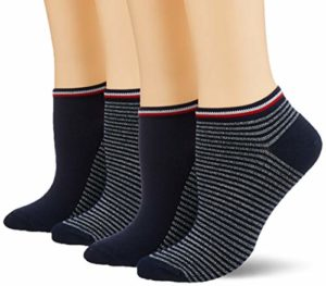 Tommy Hilfiger TH Women Resort Sneaker 2P Chaussettes, (Noir 200), 35/38 (Taille Fabricant:035) (Lot de 2) Femme