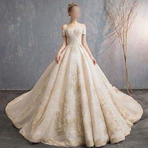 ZYDP Chérie Corset perlé élégante Robe de mariée en Tulle Classique Corsage (Design : Flat, Size : XXL)